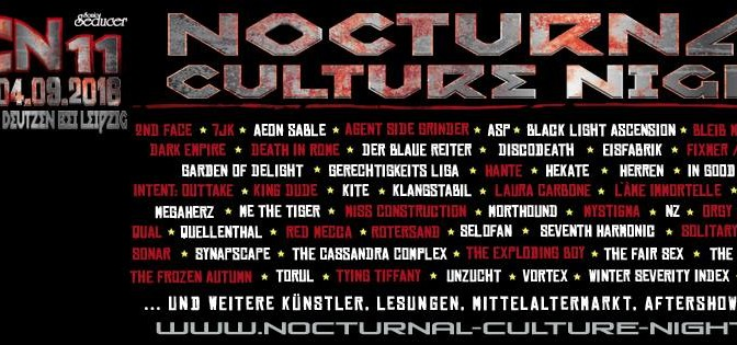 Preview: NCN 11 – Nocturnal Culture Night 2016 (Update: 27.08.2016)