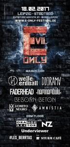 Flyer 7. E-Only Festival 2017