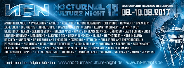 Preview: NCN 12 – Nocturnal Culture Night 2017